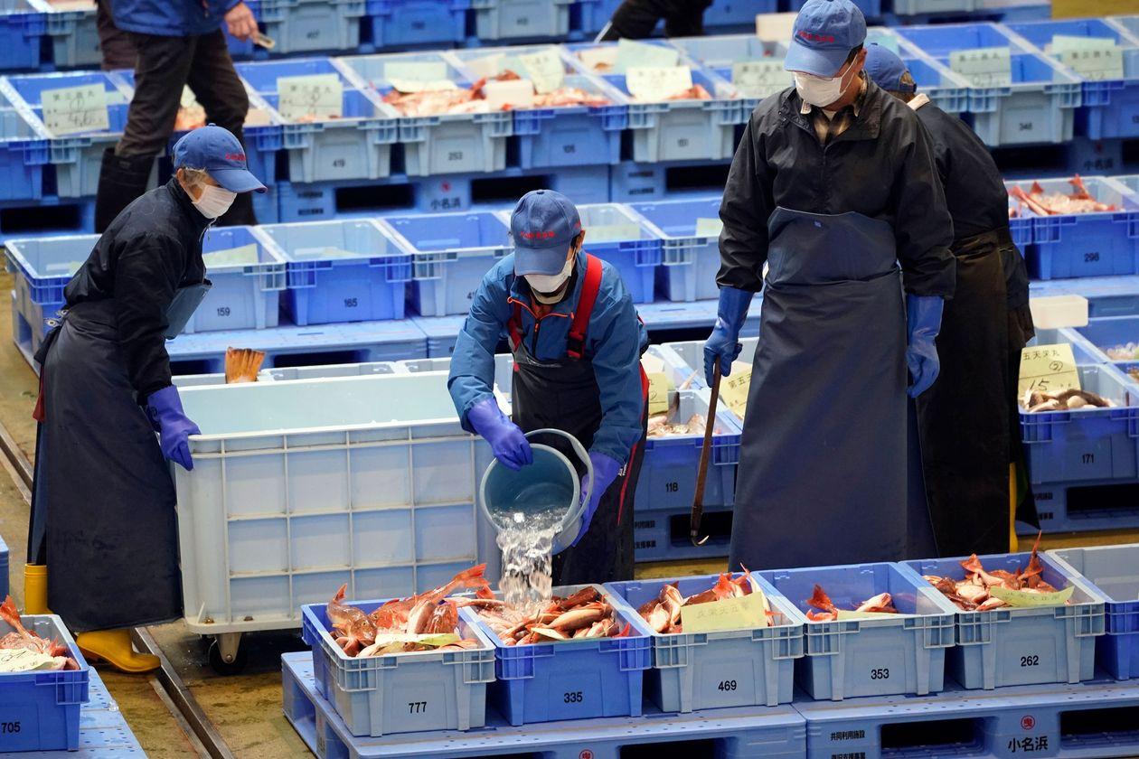 当地捕鱼业的代表对福岛附近捕捞的海鲜的声誉表示关注。来源华尔街日报.jpg